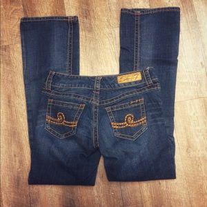 Seven7 bootcut jeans size 4 medium wash